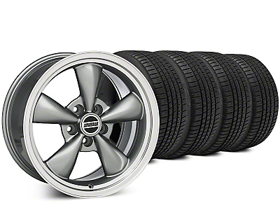 Staggered Bullitt Anthracite Wheel & Michelin Pilot Sport A/S 3+ Tire Kit - 20x8.5/10 (15-17 EcoBoost, V6)