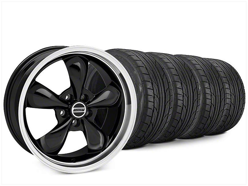 Staggered Bullitt Black Wheel & NITTO NT555 G2 Tire Kit - 20x8.5/10 (15-17 V6)