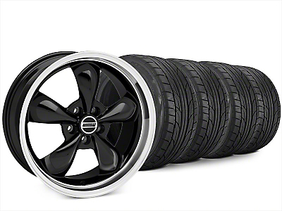 Staggered Bullitt Black Wheel & NITTO NT555 G2 Tire Kit - 20x8.5/10 (15-18 EcoBoost, V6)