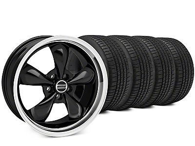 Staggered Bullitt Black Wheel & Michelin Pilot Sport A/S 3+ Tire Kit - 20x8.5/10 (15-18 EcoBoost, V6)