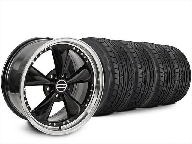 Staggered Bullitt Motorsport Black Wheel & NITTO NT555 G2 Tire Kit - 20x8.5/10 (15-19 EcoBoost, V6)