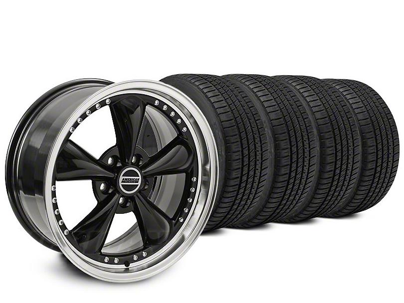 Staggered Bullitt Motorsport Black Wheel & Michelin Pilot Sport A/S 3+ Tire Kit - 20x8.5/10 (15-18 EcoBoost, V6)