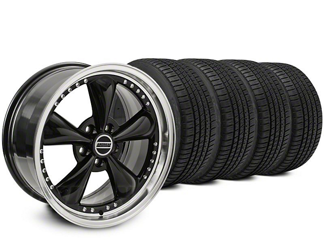 Staggered Bullitt Motorsport Black Wheel & Michelin Pilot Sport A/S 3+ Tire Kit - 20x8.5/10 (15-18 EcoBoost, V6)