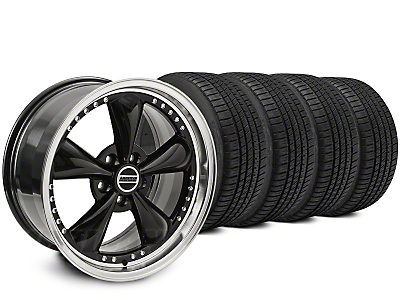 Staggered Bullitt Motorsport Black Wheel & Michelin Pilot Sport A/S 3+ Tire Kit - 20x8.5/10 (15-17 V6, EcoBoost)