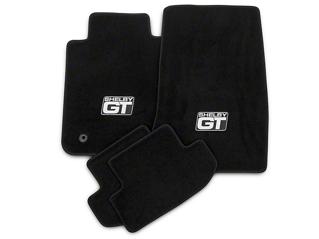 Lloyd Front & Rear Floor Mats w/ Shelby GT Logo - Black (15-20 All)
