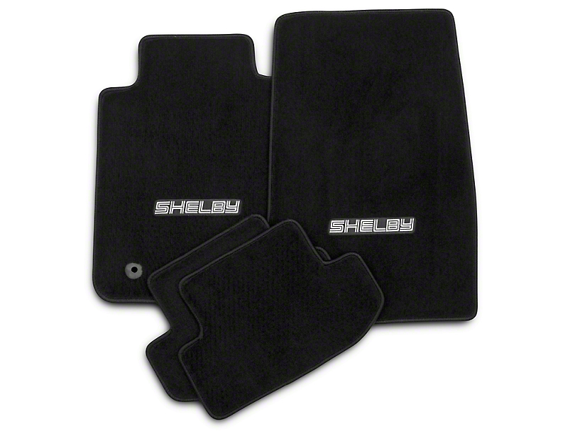 Lloyd Front & Rear Floor Mats w/ Shelby Logo - Black (15-17 All)