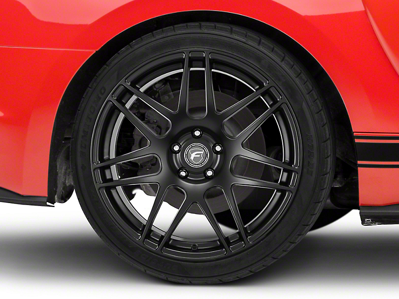 Forgestar F14 Monoblock Matte Black Wheel - 19x11 - Rear Only (15-19 GT, GT350)