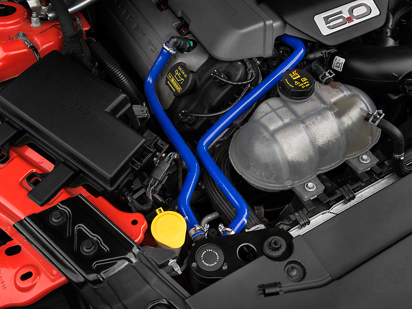 Mishimoto Direct Fit Baffled Oil Separator System - Blue Silicone Hoses (15-17 GT)