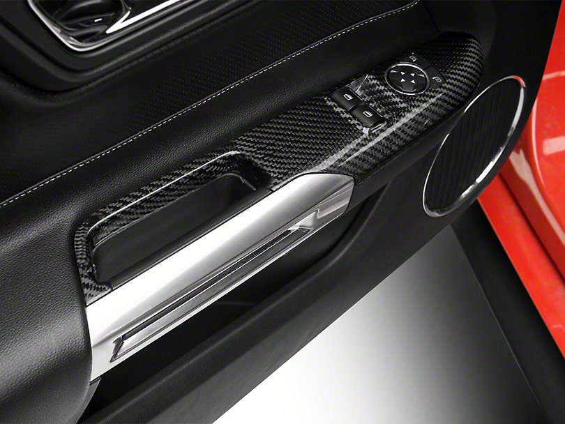 Trufiber Carbon Fiber Window Switch Covers (15-18 Fastback)