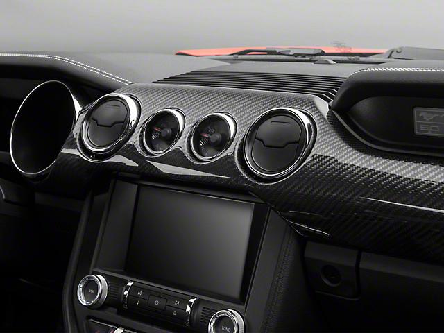Trufiber Carbon Fiber Dual Gauge Dash Kit (15-18 GT w/ Performance Pack, EcoBoost)