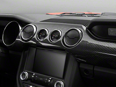 Trufiber Carbon Fiber Dual Gauge Dash Kit (15-18 GT w/ Performance Pack, EcoBoost)