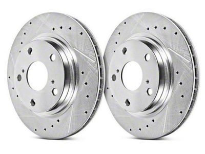 Power Stop Evolution Cross-Drilled & Slotted Rotors - Front Pair (15-19 EcoBoost w/o Performance Pack, V6)