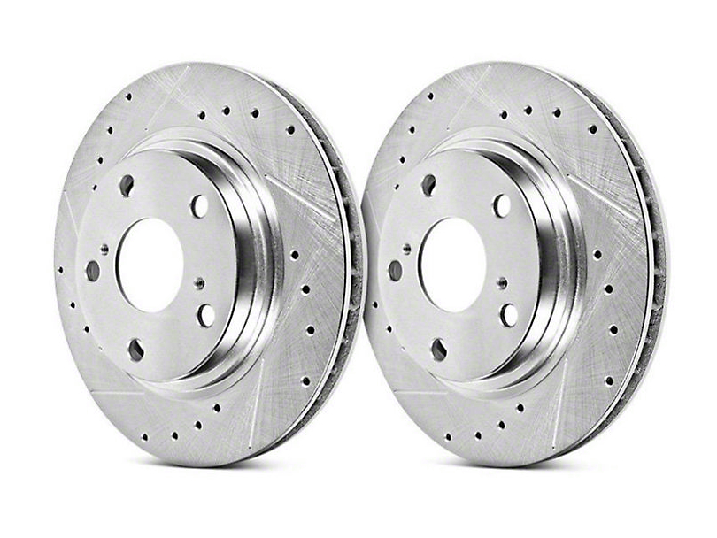 Power Stop Evolution Cross-Drilled & Slotted Rotors - Front Pair (15-17 GT, EcoBoost, V6)