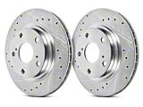 Power Stop Evolution Cross-Drilled and Slotted Rotors; Front Pair (15-20 GT, EcoBoost, V6)