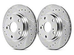 Power Stop Evolution Cross-Drilled & Slotted Rotors - Front Pair (15-19 Standard GT, EcoBoost w/ Performance Pack)