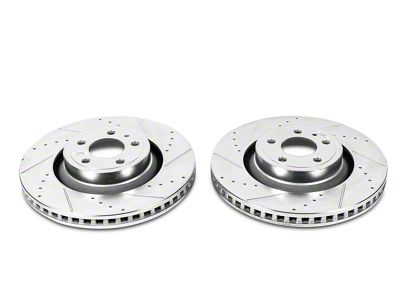 Power Stop Evolution Cross-Drilled & Slotted Rotors - Rear Pair (15-17 V6)
