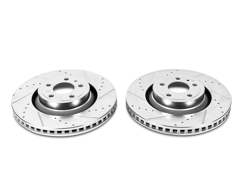 Power Stop Evolution Cross-Drilled & Slotted Rotors - Rear Pair (15-19 GT, EcoBoost, V6)