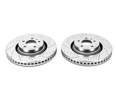 Power Stop Evolution Cross-Drilled & Slotted Rotors - Rear Pair (15-17 GT, EcoBoost)