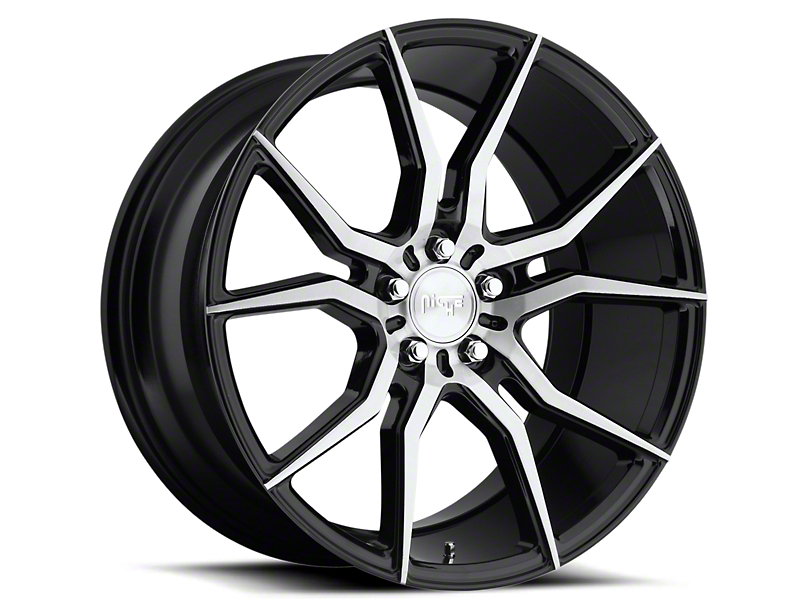 Niche Black Machined Ascari Wheel - 20x10 (05-14 All)