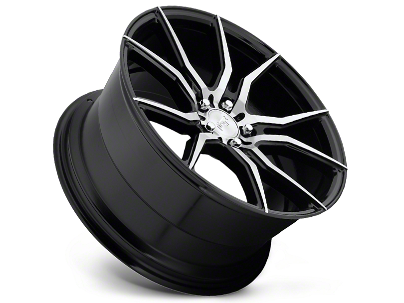 Niche Ascari Black Machined Wheel; Rear Only; 20x10 (10-14 All)