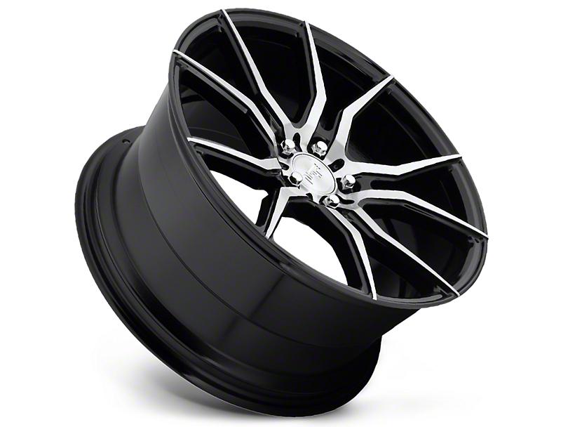 Niche Ascari Black Machined Wheel; Rear Only; 20x10 (05-09 All)