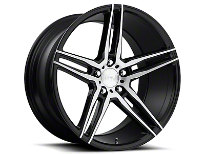 Niche Black Machined Turin Wheel - 19x9.5 (15-18 GT, EcoBoost, V6)