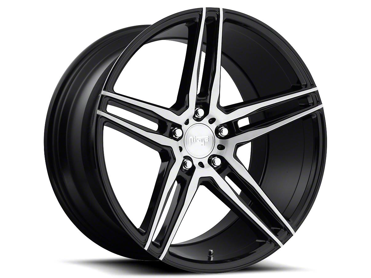 Niche Black Machined Turin Wheel - 20x9 (15-17 All)