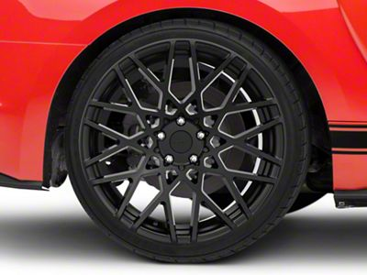 Rotiform BLQ Matte Black Wheel - 20x10 - Rear Only (15-19 GT, EcoBoost, V6)