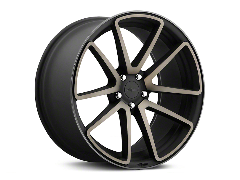 Rotiform SPF Black Machined Wheel - 19x8.5 (15-19 GT, EcoBoost, V6)