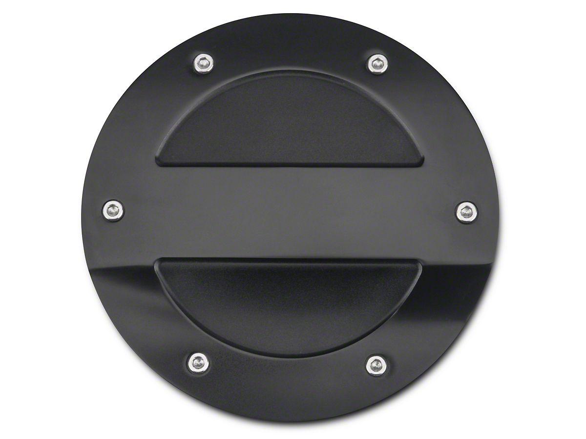 MMD Black Billet Aluminum Fuel Door (15-20 All)