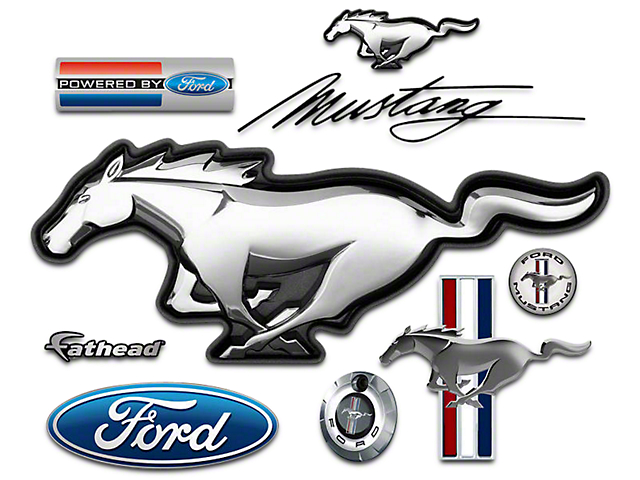 Fathead Mustang Ford Mustang Logo Wall Decals 1055 00007