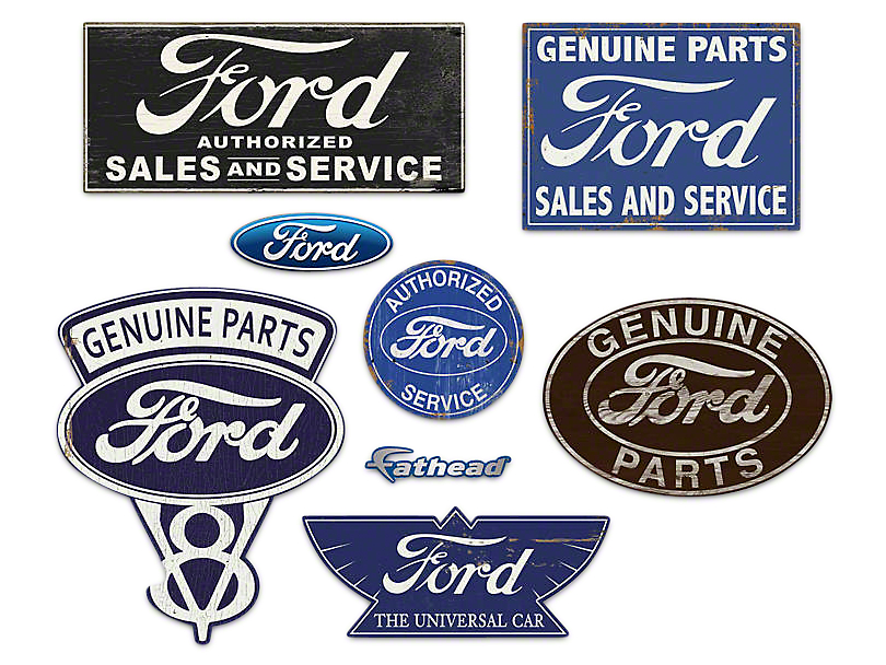 Fathead Ford Garage Signs Wall Decals