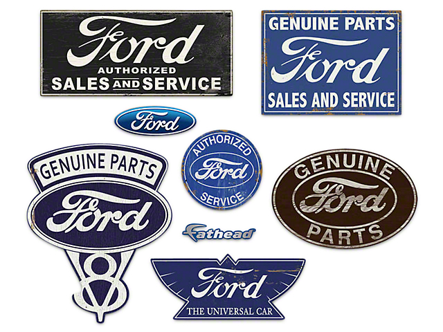 Fathead Ford Garage Signs Wall Decals  sc 1 st  American Muscle & Fathead Mustang Ford Garage Signs Wall Decals 1055-00009 - Free Shipping