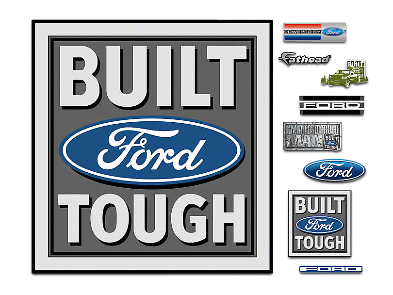 Fathead Built Ford Tough Logo Wall Decals