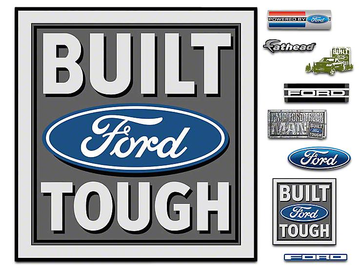 Fathead Built Ford Tough Logo Wall Decals