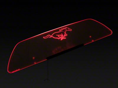 SpeedForm Laser Engraved Wind Deflector w/ Illumination - Running Pony - White (15-19 Convertible)