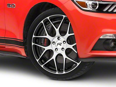 Rovos Pretoria Gloss Black Machined Wheel - 20x8.5 (15-19 GT, EcoBoost, V6)