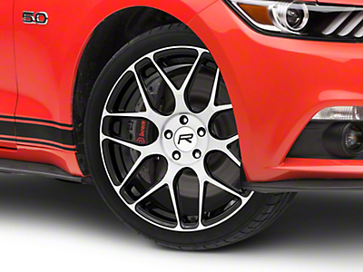 Rovos Pretoria Gloss Black Machined Wheel - 20x8.5 (15-18 GT, EcoBoost, V6)