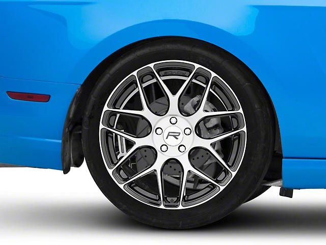 Rovos Pretoria Gloss Black Machined Wheel; Rear Only; 20x10 (10-14 All)