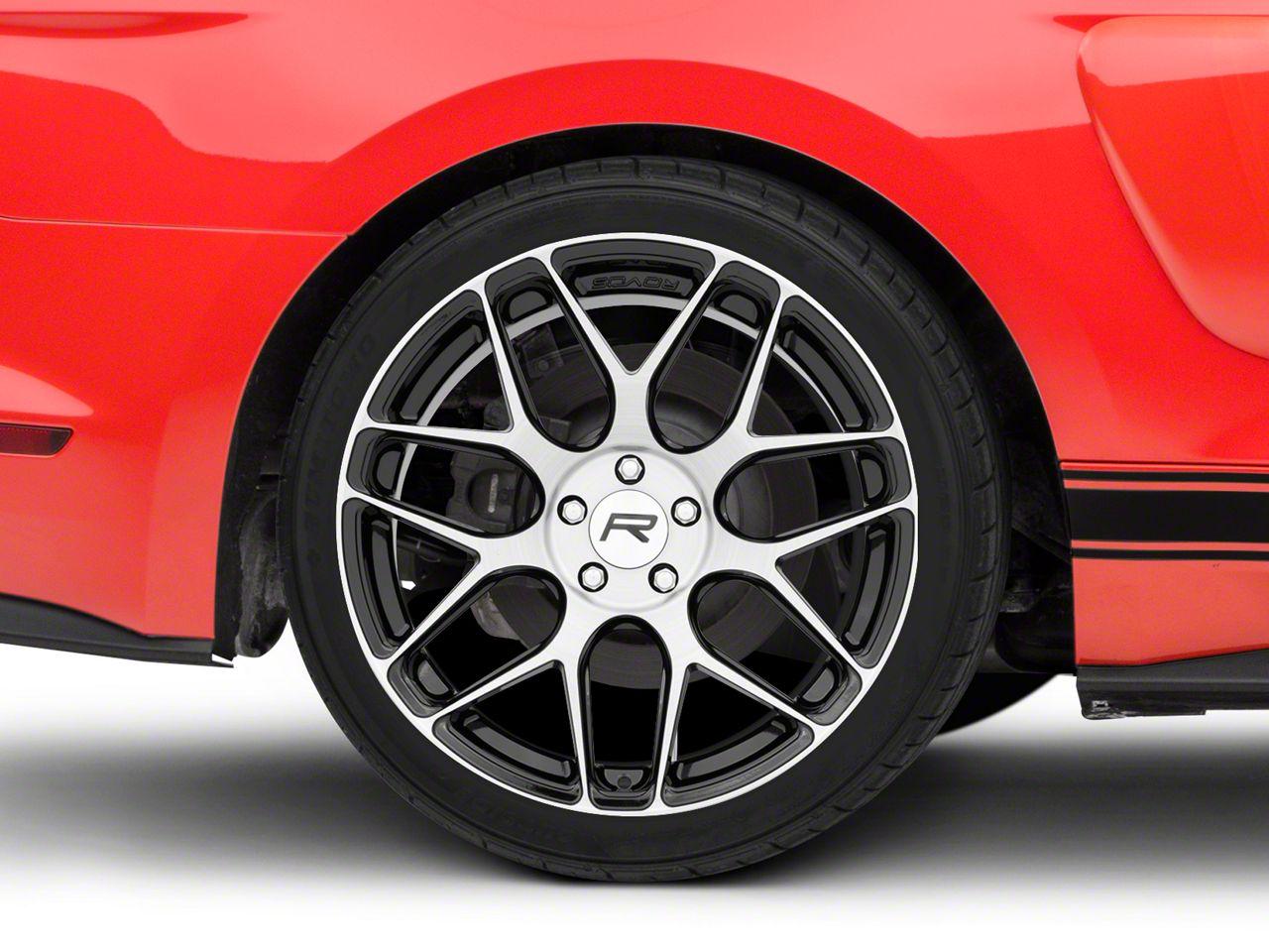 Rovos Pretoria Gloss Black Machined Wheel - 20x10 - Rear Only (15-19 GT, EcoBoost, V6)