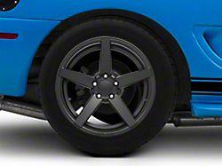 Rovos Wheels Durban Satin Black Wheel; Rear Only; 18x10.5 (94-98 All)