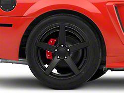 Rovos Wheels Durban Satin Black Wheel; Rear Only; 18x10.5 (99-04 All)