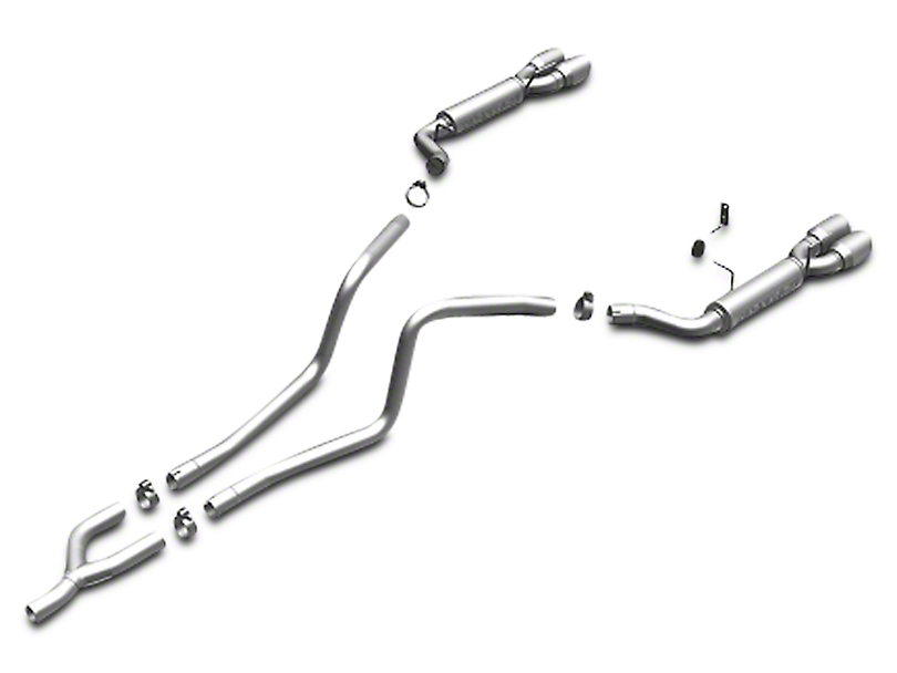 Magnaflow Quad Tip Competition Series Cat-Back Exhaust System - Stainless (2010 V6)