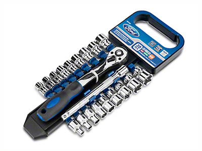 Ford 20 Piece 3/8 in. Ratchet and Socket Set - SAE and Metric