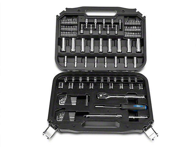Ford 128 Piece 1/4 in. and 3/8 in. Socket Set - SAE and Metric