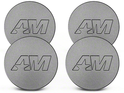 Charcoal AmericanMuscle Center Cap Kit (94-19 All)
