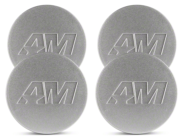 Silver AmericanMuscle Center Cap Kit