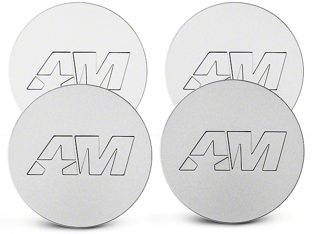 Stainless AmericanMuscle Center Cap Kit