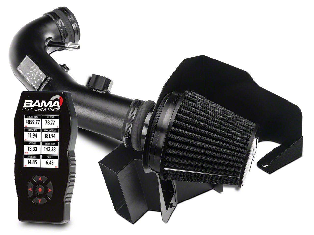 K&N Black Hawk Cold Air Intake & Bama X4 Tuner (11-14 GT)