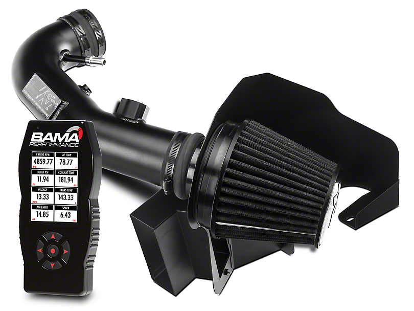 K&N Black Hawk Cold Air Intake & Bama X4 Tuner (11-14 GT)